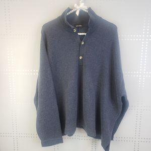 Eskander Navy Heathered Oversized Sweater
